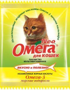 Мультивитаминное лакомство «омега neo» в мини-упаковке для кошек с морскими водорослями (к-в) с