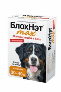 «блохнэт max» капли для собак 30-40 кг