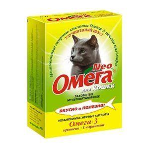 Мультивитаминное лакомство «омега neo» для кошек  с протеином и l-карнитином