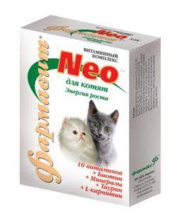 Кормовая добавка «витаминно-минеральный комплекс «фармавит neo» для котят «энергия роста»