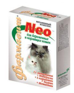 Кормовая добавка «витаминно-минеральный комплекс «фармавит neo» для беременных и кормящих кошек