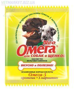 Мультивитаминное лакомство «омега neo» в мини-упаковке для собак с протеином и l-карнитином длясобак и щенков (с-пк)