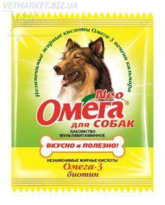 Мультивитаминное лакомство «омега neo» в мини-упаковке для собак с биотином (с-б)