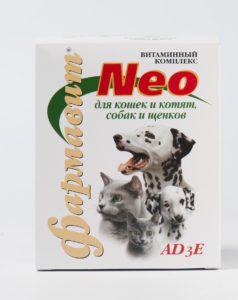 Кормовая добавка «витаминно-минеральный комплекс «фармавит neo»  адзе для кошек и котят, собак и щенков