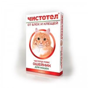 Ошейник от блох и клещей для кошек, 35 см