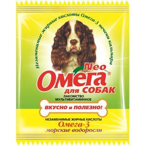 Мультивитаминное лакомство «омега neo» в мини-упаковке для собак с морскими водорослями (с-в)