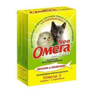 Мультивитаминное лакомство «омега neo» для котят с таурином и l-карнитином