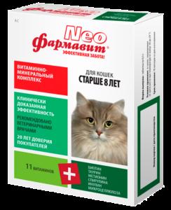 Кормовая добавка «витаминно-минеральный комплекс «фармавит neo» для кошек старше 8 лет