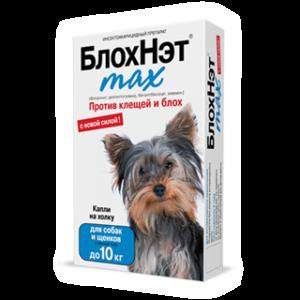 «блохнэт max» капли для собак и щенковдо 10 кг