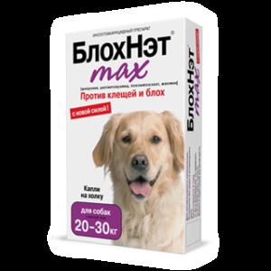 «блохнэт max» капли для собак 20-30 кг