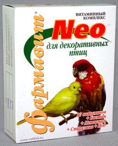 Кормовая добавка «витаминно-минеральный комплекс «фармавит neo»  для декоративных птиц