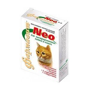 Кормовая добавка «витаминно-минеральный комплекс «фармавит neo» для кастрированных котов и кошек