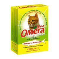 omega-neo-dlya-koshek-multivitaminnoe-lakomstvo-s-biotinom-i-taurinom-90-tabl