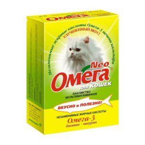 Мультивитаминное лакомство «омега neo» для кошек с биотином и таурином