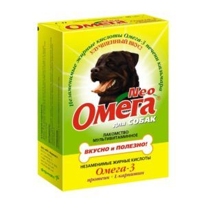 Мультивитаминное лакомство «омега neo» для собак с протеином и l-карнитином