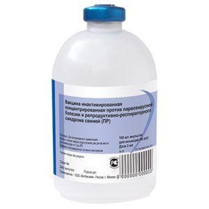 Вакцина инактивированная концентрированная против парвовирусной болезни и репродуктивно-респираторного синдрома свиней «пр»