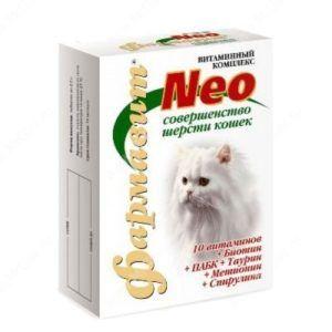 Кормовая добавка «витаминно-минеральный комплекс «фармавит neo» для кошек  «совершенство шерсти»