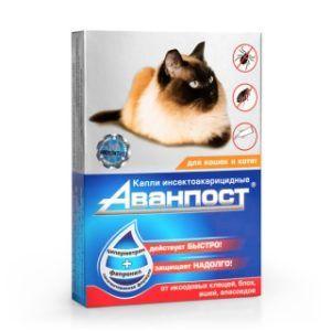 «аванпост®» инсекто-акарицидные капли на холку для кошек и котят