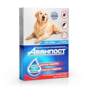 «аванпост®» инсекто-акарицидные капли на холку для собак 20-30 кг