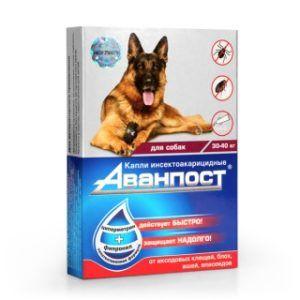 «аванпост®» инсекто-акарицидные капли на холку для собак 30-40 кг