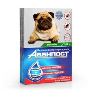 «аванпост®» инсекто-акарицидные капли на холку для собак 5-10 кг