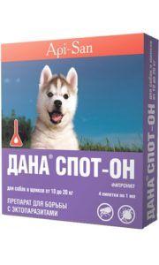 Дана спот-он для собак и щенков от 10 до 20 кг