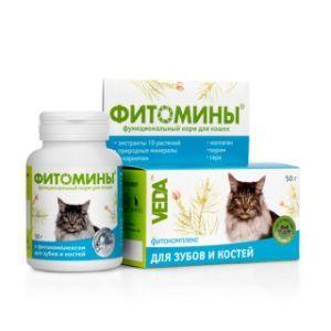 Фитомины® с фитокомплексом для зубов и костей для кошек