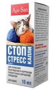 Стоп-стресс капли для кошек 10мл.