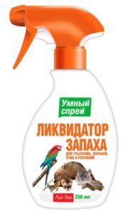 Умный спрей ликвидатор пятен, меток и запаха для грызунов, хорьков и птиц