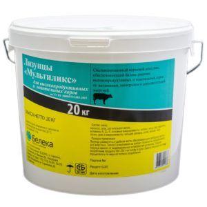 Лизунцы «мультиликс» для высокопродуктивных и новотельных коров