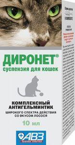 Диронет суспензия для кошек