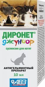 Диронет джуниор глистогонное средство для котят