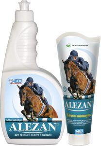 Алезан alezan блеск-шампунь для гривы и хвоста