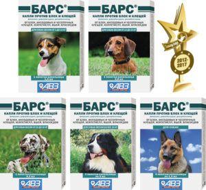 Барс капли для собак от блох и клещей