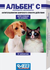 Альбен с таблетки от глистов для собак и кошек