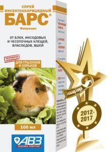 Барс спрей инсектоакарицидный для грызунов и хорьков